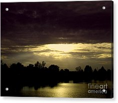 Shimmering Shadow Sunset Acrylic Print