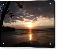 Acrylic Print featuring the photograph Shimmering Sunrise by James Peterson