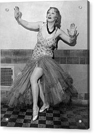 Shimmy Queen Gilda Gray Acrylic Print