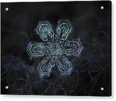Snowflake Photo - Shine Acrylic Print