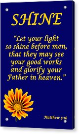 Shine Christian Poster Acrylic Print