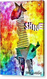 Shine Acrylic Print by Currie Silver