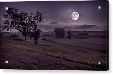 Shine On Harvest Moon Acrylic Print