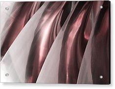 Shine On Metal - Burgundy Tones Acrylic Print by Natalie Kinnear