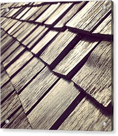 Shingles Acrylic Print by Christy Beckwith