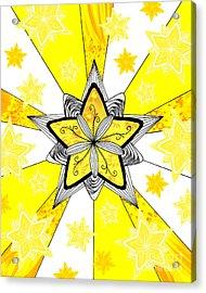 Shining Star Acrylic Print by E B Schmidt