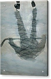 Shinny Shilouette Wc Acrylic Print