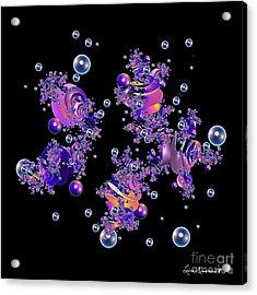 Shiny Bubbles Acrylic Print by Leona Arsenault