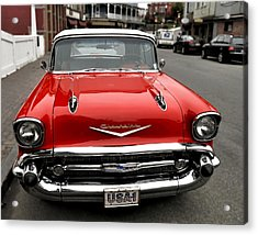 Shiny Red Chevrolet Acrylic Print