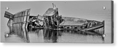 Acrylic Print featuring the photograph Ship Aground by Timothy Latta
