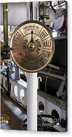 Ship Control Telegraph Acrylic Print by Steven Ralser
