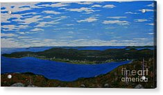 Ship Harbour From Sugarloaf Hill Acrylic Print by Barbara Griffin