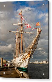 Ship In The Sun Acrylic Print