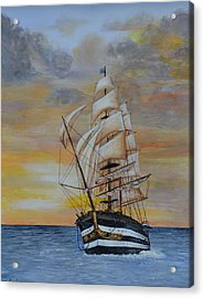Ship On The High Seas Acrylic Print