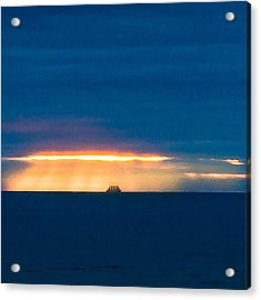 Ship On The Horizon Acrylic Print