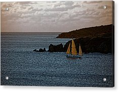 Ship Sailing At Dawn Acrylic Print