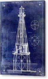 Ship Shoal Light House Blueprint Acrylic Print
