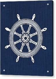 Ship Wheel Nautical Print Acrylic Print