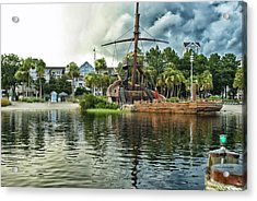 Ship Wrecked At The Disney Yacht And Beach Club Resort Acrylic Print by Thomas Woolworth