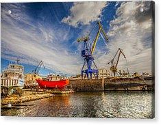 Ship Yard Acrylic Print
