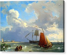 Shipping In A Choppy Estuary Acrylic Print