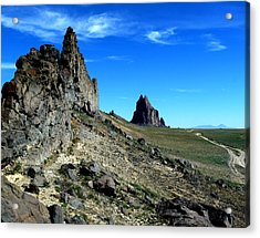 Acrylic Print featuring the photograph Shiprock by Alan Socolik
