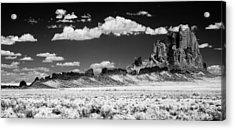 Shiprock Dyke Long View Acrylic Print