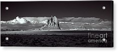 Shiprock Evening Panorama Acrylic Print