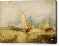 Ships A Sea Getting A Good Wetting Acrylic Print by Joseph Mallord