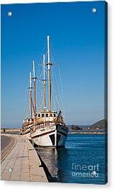 Ships At Lefkada Acrylic Print by Gabriela Insuratelu