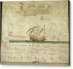 Ships In The King's Navy Fleet From 1546 Acrylic Print by British Library