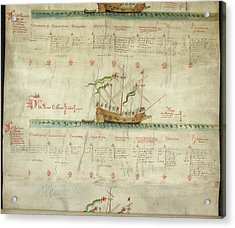 Ships In The King's Navy Fleet From 1547 Acrylic Print by British Library