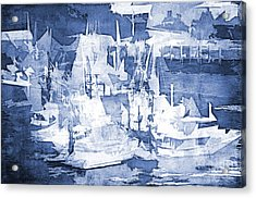 Ships In The Water Acrylic Print by Davina Washington