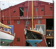 Ships In Waiting Acrylic Print by Jean Goodwin Brooks
