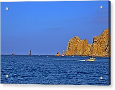 Ships Lining Up At Land's End Acrylic Print by Christine Till