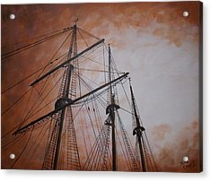 Ships Masts Acrylic Print by Julie Cranfill
