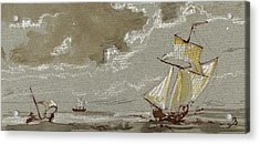 Ships On Storm Acrylic Print