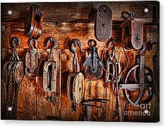 Ship's Rigging Acrylic Print by Lee Dos Santos