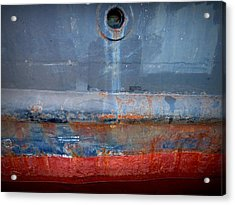 Shipside Abstract II Acrylic Print by Patricia Strand