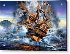 Shipwreck Acrylic Print by Adrian Chesterman
