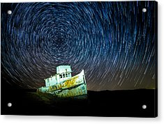 Shipwreck Acrylic Print by Peter Irwindale