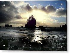 Shipwreck Rock Acrylic Print by Deena Otterstetter