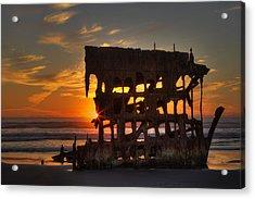 Shipwreck Sunburst Acrylic Print