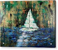 Shipwrecked Acrylic Print by Nan Bilden
