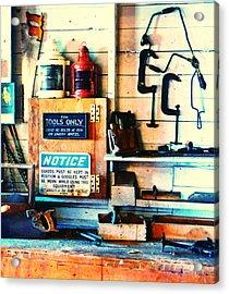 Shipyard Carpentry Acrylic Print