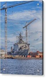 Shipyard Acrylic Print by David Cote
