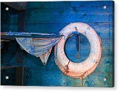 Shipyard Lifesaver Acrylic Print