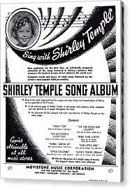 Shirley Temple Song Album Acrylic Print