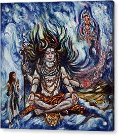 Shiva - Ganga - Harsh Malik Acrylic Print