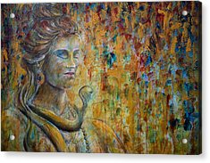 Acrylic Print featuring the painting Shiva 2 - Close by Nik Helbig